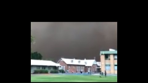 Dust Storm Looms Over New South Wales High School