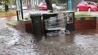 Flash Flooding in Inner Melbourne During Severe Storms - Video