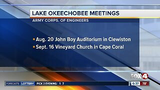 Army Corps of Engineers schedules Lake O meetings