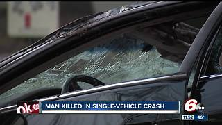 Person killed in crash on Indy's south side near East Street - Video