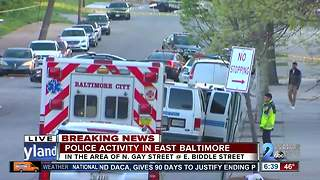 Police activity in East Baltimore - Video