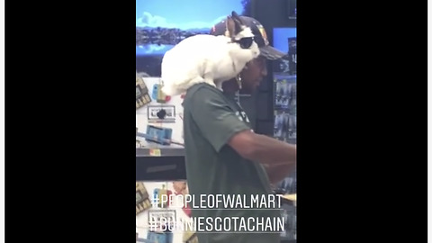 People of Walmart: Bunny wears glasses and chain necklace