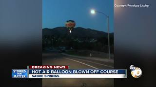 Hot air balloon makes unexpected landing in neighborhood park - Video