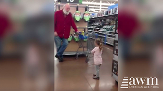Toddler Thinks Stranger Shopping Is Santa. His Immediate Reaction Will Warm Your Heart - Video