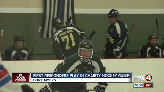 First Responders Play in Charity Hockey Game - Video
