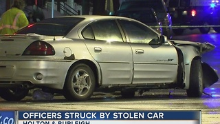 MPD Officers struck chasing suspects in stolen vehicle - Video