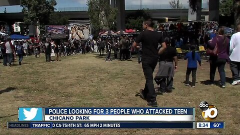 Police looking for three people who attacked teen