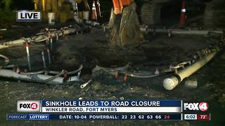 Sinkhole closes a portion of Winkler Road for rest of the week