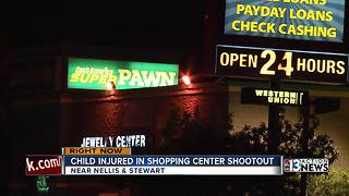 Ten-year-old child wounded in shopping center shooting - Video