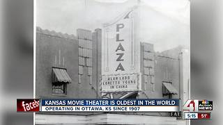 Kansas movie theater is oldest in the world - Video
