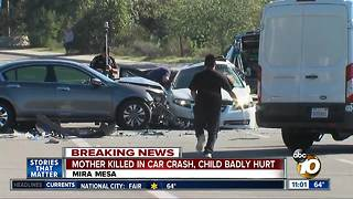 Mother, child injured in Mira Mesa crash