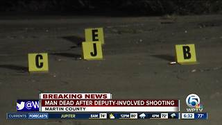 One person is dead after a deputy-involved shooting in Indianown - Video