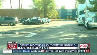 Deadly shooting in Southwest Bakersfield, one dead and four injured - Video