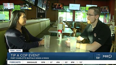 Tip a Cop event at Buffalo Wings & Rings in Port Charlotte