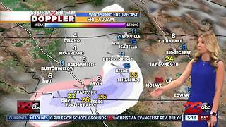 Strong winds make their way into the county Thursday with accumulating snow overnight in the mountains - Video