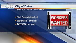 City of Detroit hiring for transportation department - Video