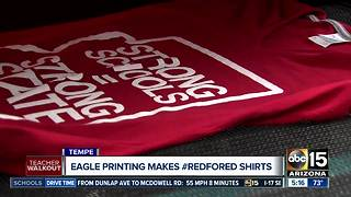 Eagle Printing makes #RedForEd shirts - Video