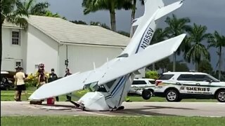 One person injured in small plane crash at Wellington Aero Club