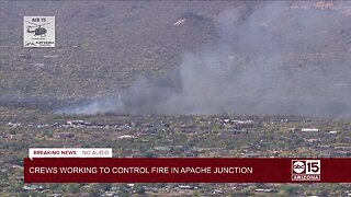 Large brush fire threatens homes in Apache Junction