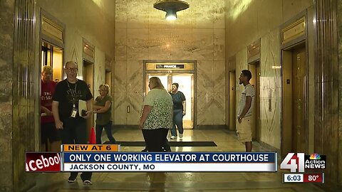 Downtown Jackson County Courthouse down to one working elevator, causing frustration