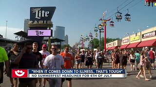 Fans disappointed about Summerfest headliner cancellation