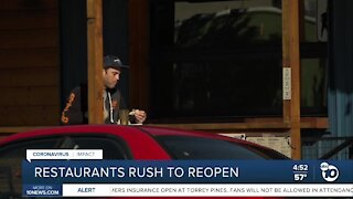 Restaurants move fast to reopen