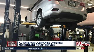Auto repair shops offer no-contact service