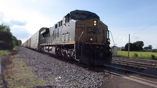 CSX Autorack Train from Sterling, Ohio 6/20/2020