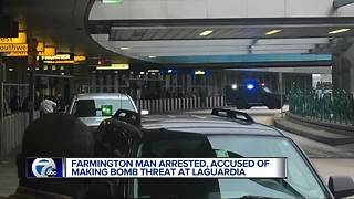 Farmington man arrested, accused of making bomb threat at airport - Video