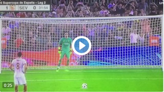 VIDEO: Bravo Amazing save penalty vs Sevilla