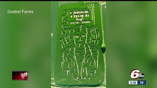Indiana corn maize honors late Carrie Fisher - Video
