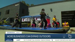 More businesses can expand outdoors