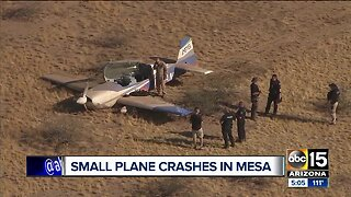 Small plane makes an emergency landing in Mesa