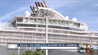 Roughly 500 people sick on board royal caribbean