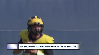 Michigan holding open practice before season opener - Video
