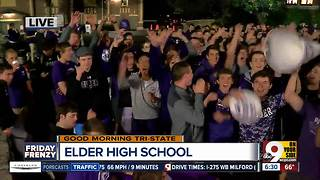 Elder High School is pumped up for Friday night game against Moeller - Video