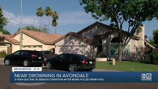 3-year-old girl pulled from bottom of Avondale pool