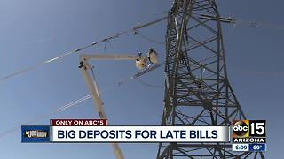 APS asking for deposit money after late payments - Video