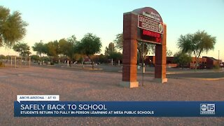 Students return to fully in-person learning at Mesa Public Schools