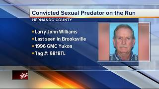 Convicted sexual predator on the run in Hernando County - Video
