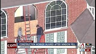 Window falls on worker in Leawood construction accident, police say - Video