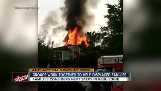 Groups work together to help displaced families - Video