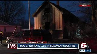 2 kids killed in Christmas Eve house fire in Kokomo, 2 adults and 3 other kids injured - Video