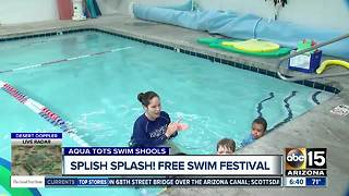 Free swim festival at Aqua Tots locations - Video