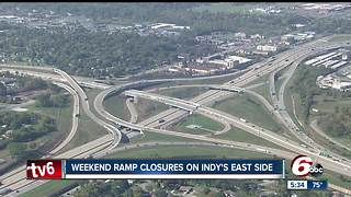 Major ramp to close this weekend on Indianapolis east side - Video