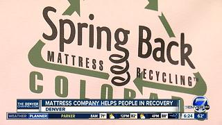 Mattress recycling company helps former addicts - Video