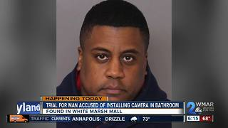 Man accused of hiding camera in mall bathroom heads to trial