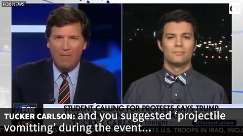 Tucker Carlson Obliterates University Student's Call For Violence At Campus Event