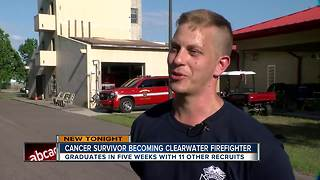 After nearly a decade, cancer survivor reaches his dream of becoming a firefighter - Video