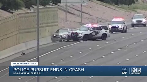 VIDEO: Suspect crashes on US-60 after police pursuit